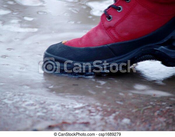Shoe in water - csp1689279