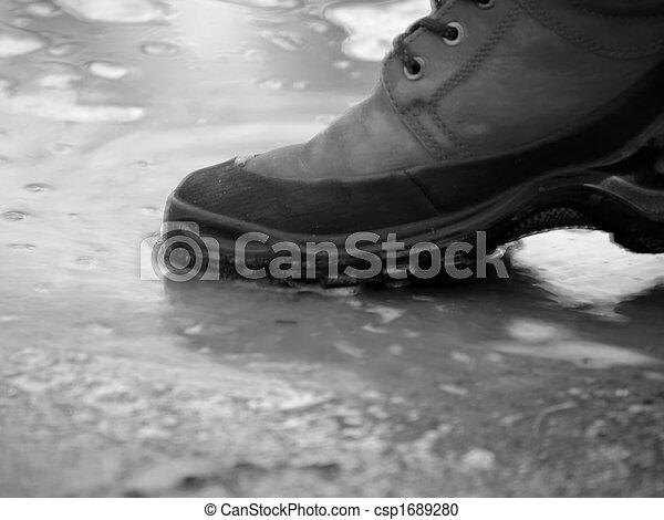 Shoe in water - csp1689280