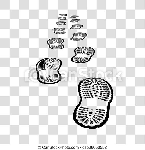 shoe print on chekered background shoe print vector illustration on rh canstockphoto com free clipart shoe prints black and white clipart of shoe print