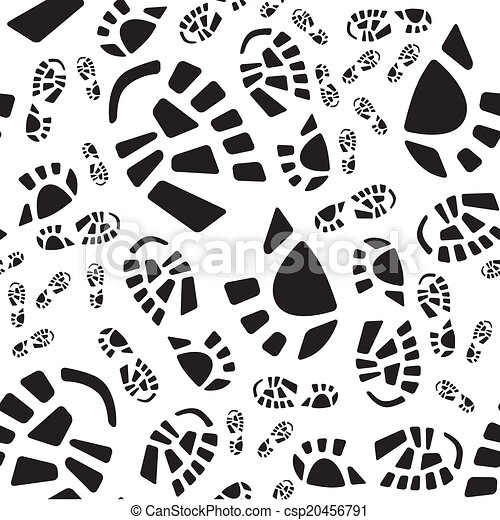 Shoe Print Seamless Pattern