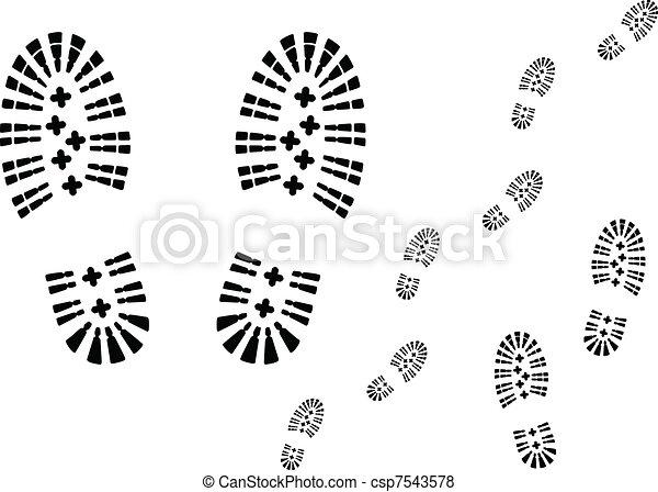 Shoe prints. - csp7543578