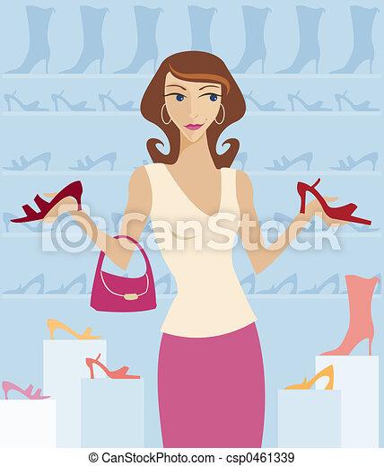 Shoe Shopping - csp0461339