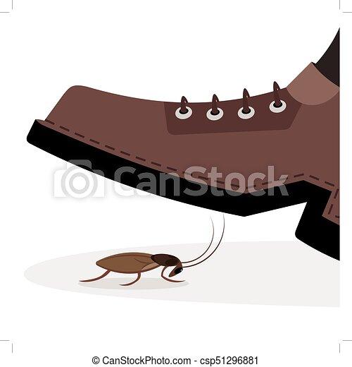 shoe trample cockroach - csp51296881