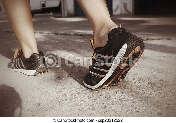 shoes., 動くこと - csp28312522