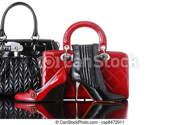 shoes and handbag, fashion photo - csp8472911