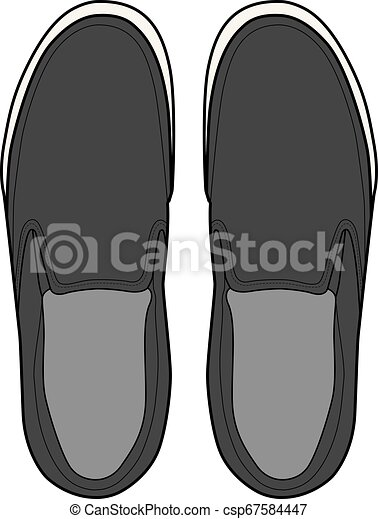 SHOES footwear design fashion flat sketch template - csp67584447