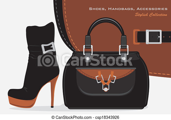 Shoes, handbags and accessories - csp18343926