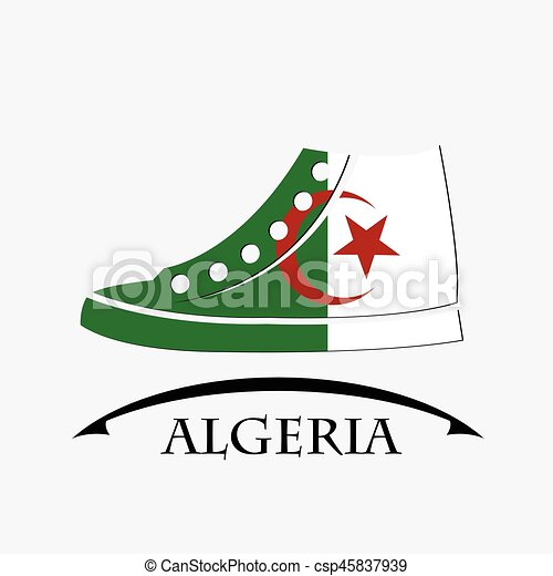 shoes icon made from the flag of Algeria - csp45837939