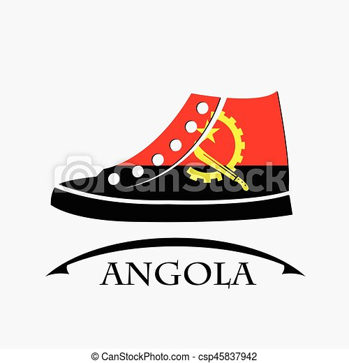 shoes icon made from the flag of Angola - csp45837942