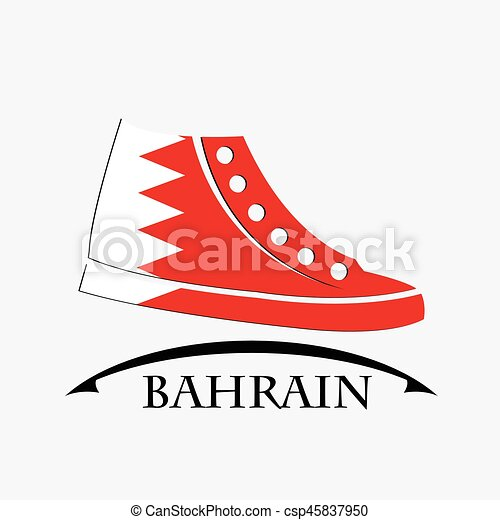 shoes icon made from the flag of Bahrain - csp45837950