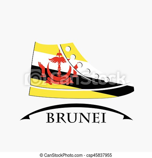 shoes icon made from the flag of brunei - csp45837955