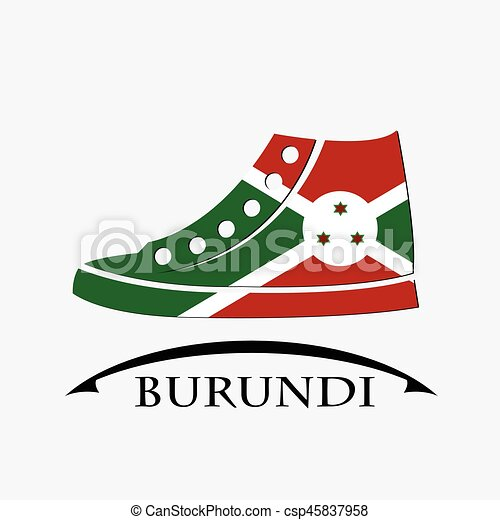 shoes icon made from the flag of burundi - csp45837958