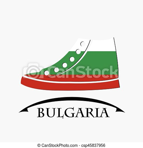 shoes icon made from the flag of Bulgaria - csp45837956