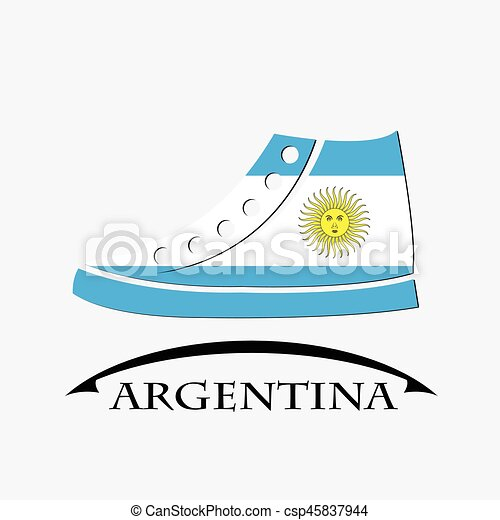 shoes icon made from the flag of argentina - csp45837944
