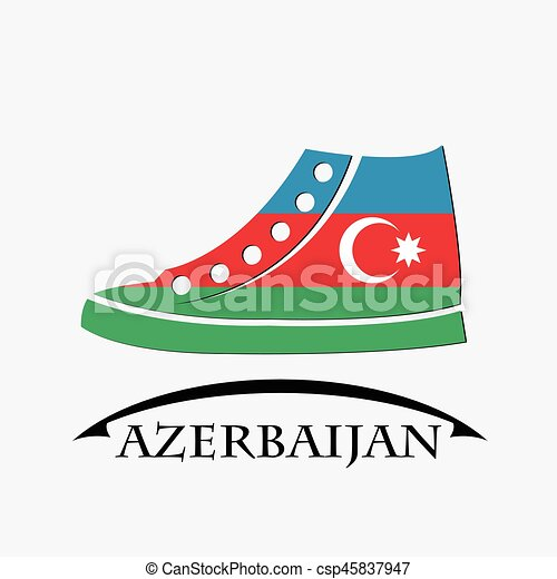 shoes icon made from the flag of Azerbaijan - csp45837947