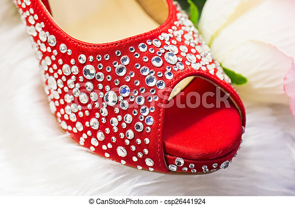 Shoes in red - csp26441924