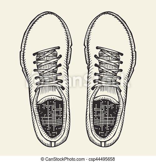 shoes., sommet, patineurs, vue. - csp44495658