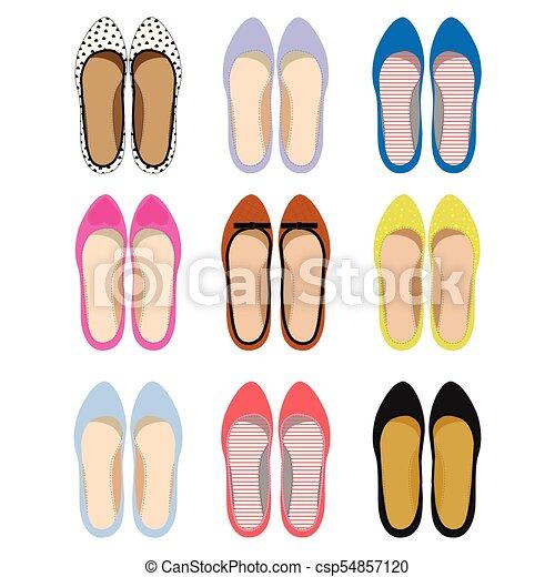 Imágenes de zapatos de verano femeninos. - csp54857120