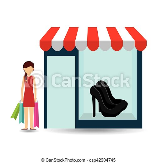 shoes woman buys gifts - csp42304745