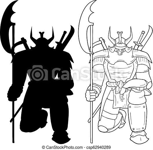 Creative Design Of Shogun Armor Draw