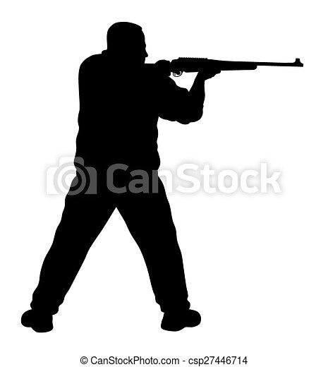vector illustration of shooter silhouette vector clip art shotgun clipart images shotgun clip art free