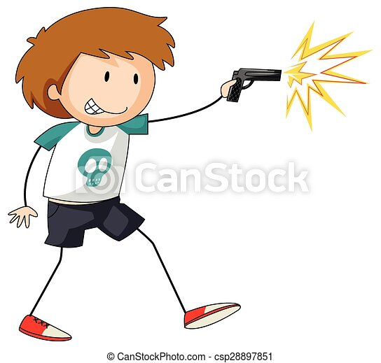 shooting boy with a gun in his hand shooting at someone policeman clipart black and white policeman clipart images
