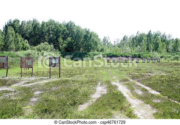 Shooting range - csp46761729