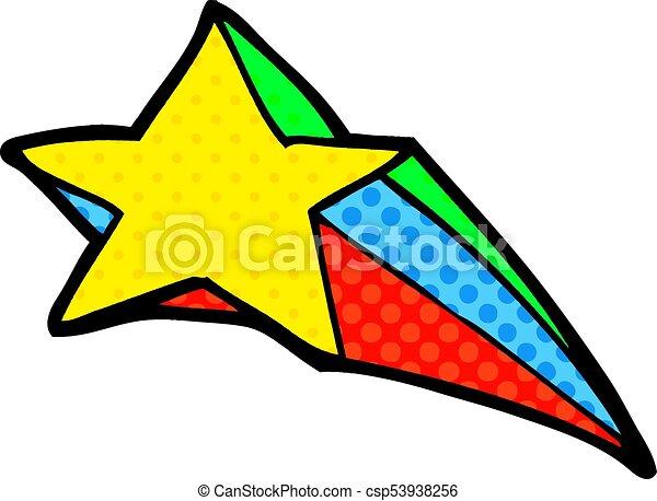 shooting star decorative cartoon clipart vector search rh canstockphoto com blue shooting star graphic shooting star vector graphic