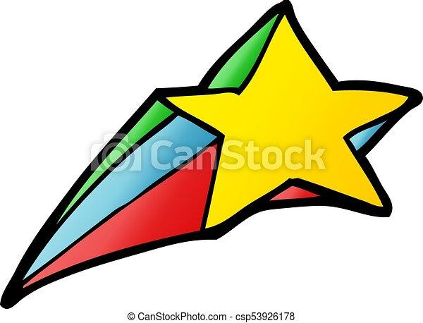 shooting star decorative cartoon rh canstockphoto ie shooting star cartoon logo shooting star cartoon character stock