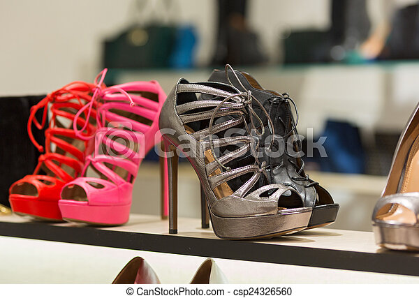 Shop bags and shoes - csp24326560