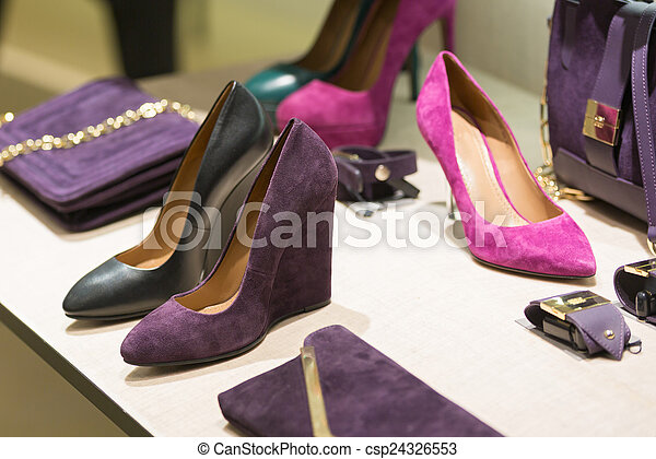 Shop bags and shoes - csp24326553
