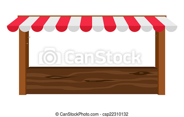 Shop Canopy Vector  sc 1 st  Can Stock Photo & Shop canopy. Empty wooden counter with canopy vectors - Search ...