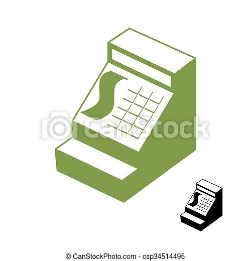 Shop., dinero, signo., registro, cajero, símbolo., uno, máquina ...