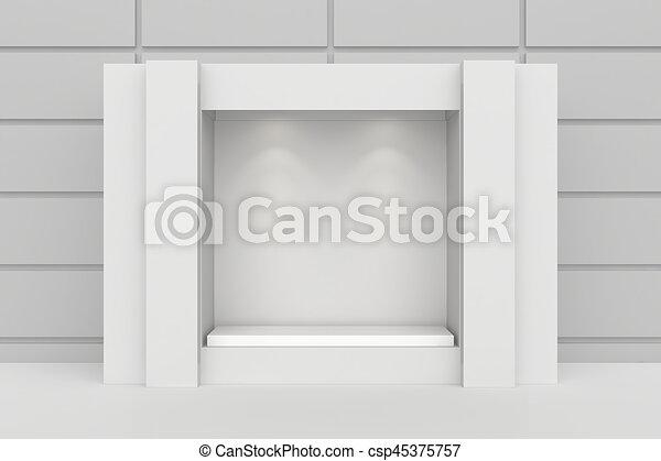 Shop exterior showcase. - csp45375757