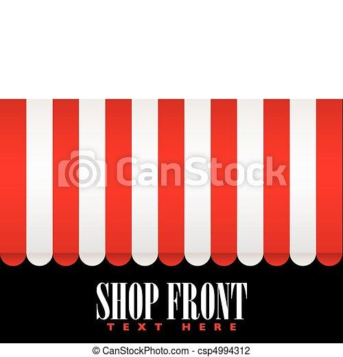 Shop front awning - csp4994312