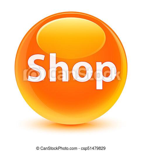 Shop glassy orange round button - csp51479829