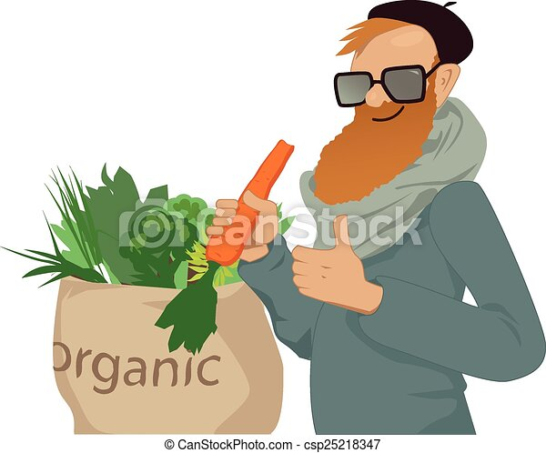 Shop local, eat organic - csp25218347