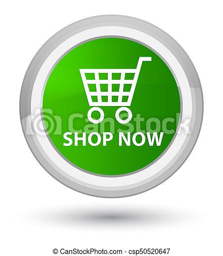 Shop now prime green round button - csp50520647