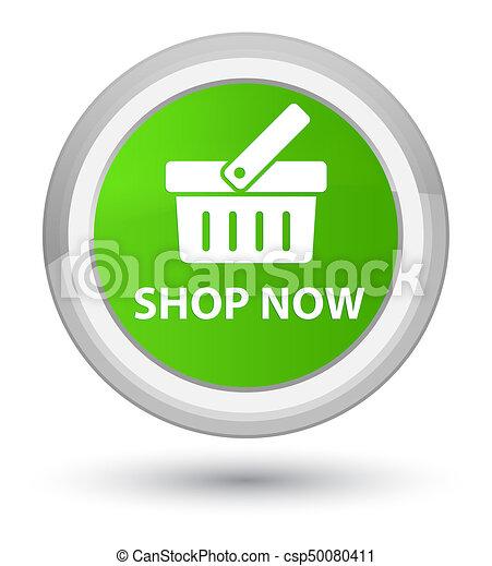 Shop now prime soft green round button - csp50080411