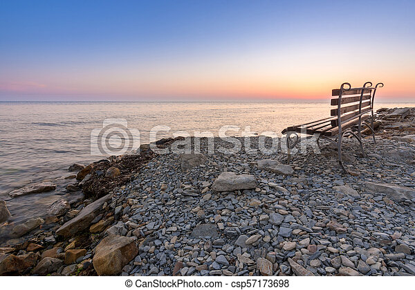 Shop on the stony shore of the Black Sea, Anapa, Russia - csp57173698