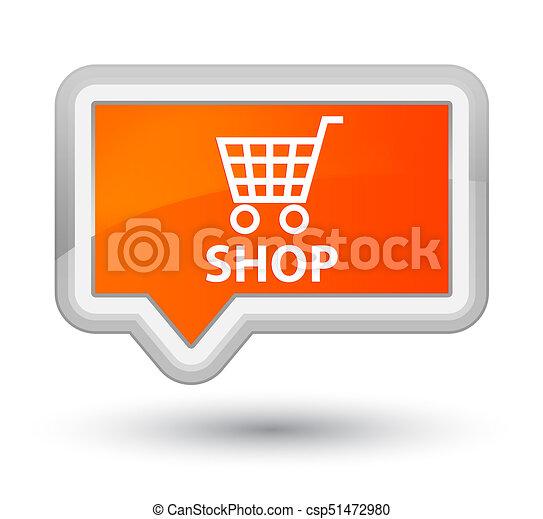 Shop prime orange banner button - csp51472980