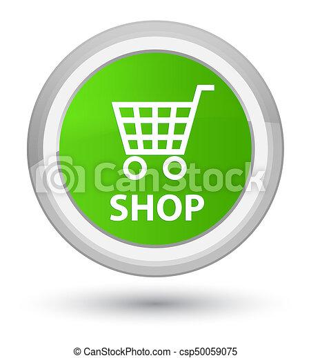 Shop prime soft green round button - csp50059075