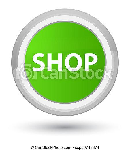 Shop prime soft green round button - csp50743374