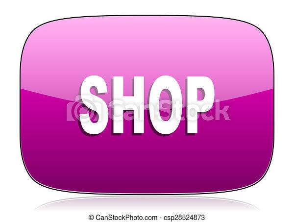 shop violet icon - csp28524873