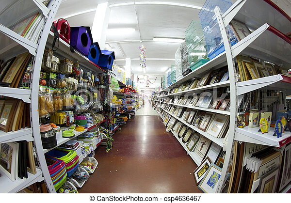 Shop with many products, large retail store - csp4636467
