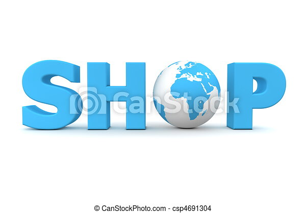 Shop World Blue - csp4691304