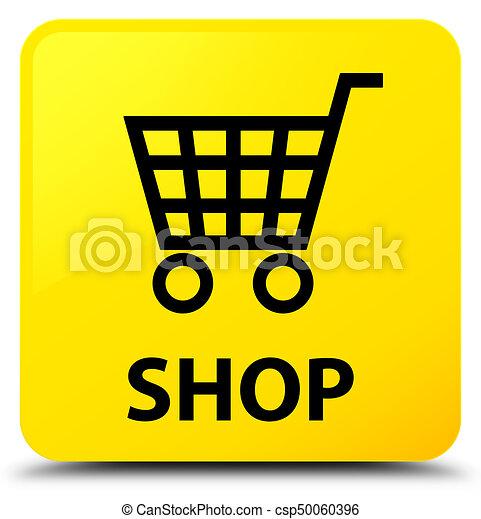 Shop yellow square button - csp50060396