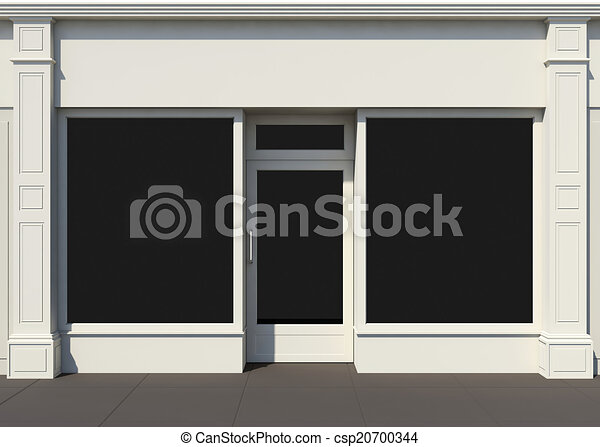 Shopfront with large windows - csp20700344