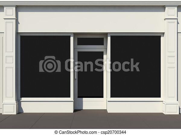Shopfront with large windows - csp20700344