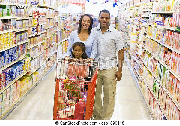 shoppen , gezin, supermarkt - csp1890118